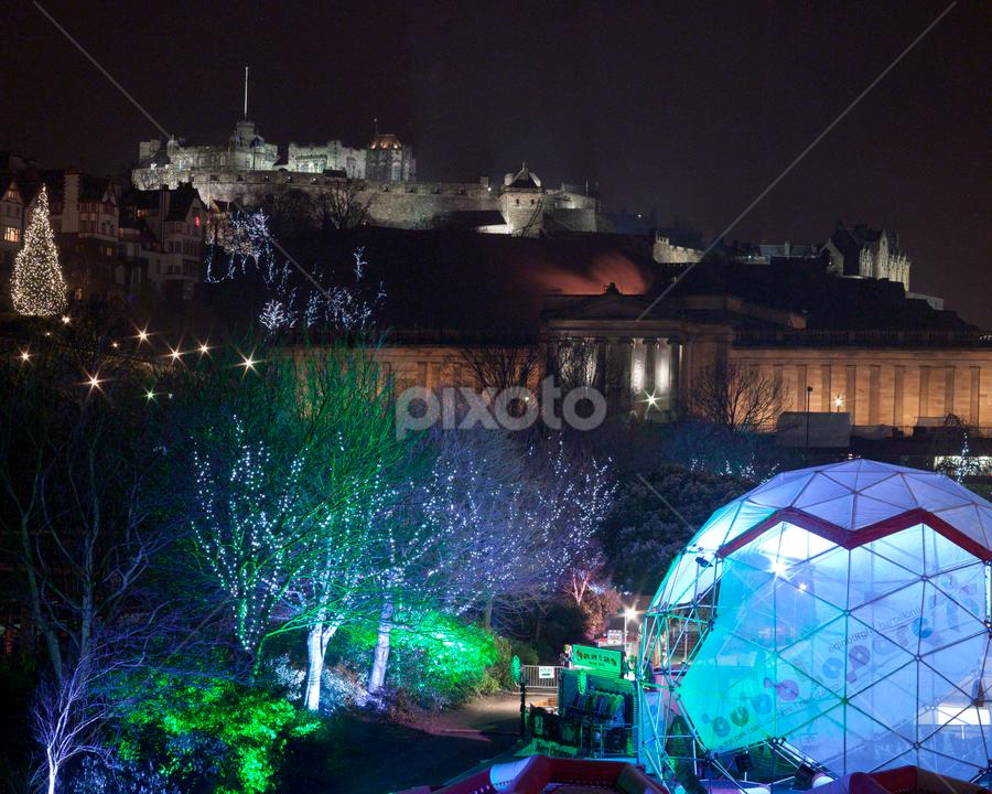 Edinburgh winter wonderland by Thomas Cochrane - Public Holidays Christmas ( scotland, festive, uk, princess, edinburgh, christmas, gardens, castle, united kingdom )
