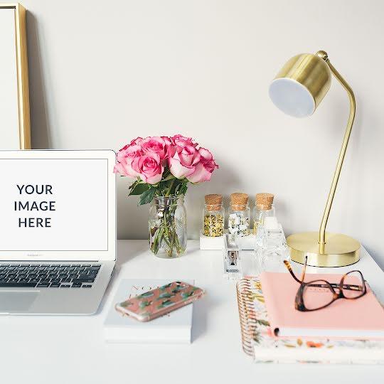 Workspace Laptop Mockup - Instagram Post Template