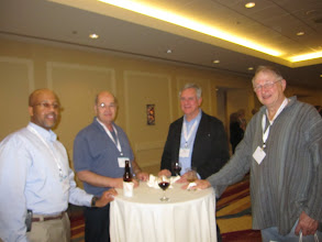 Photo: Reception the first evening - Lyle Gibson, John Walden, George Valko and Don Wallace.