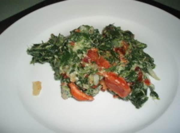 Bacony Creamed Spinach