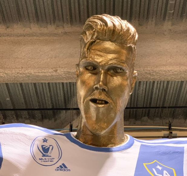 David Beckham's botched statue.