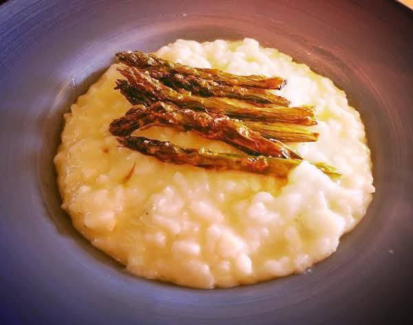 Roasted Asparagus Risotto In Instant Pot