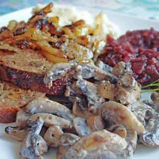 Fried Mushroom Recipe (with Cream Sauce)