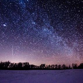 Geminid On My Mind by Jeremy Jordan - Landscapes Starscapes