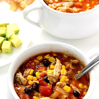 20-Minute Chicken Enchilada Soup