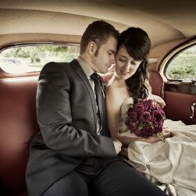 by Ben Kopilow - Wedding Bride & Groom ( antique/vintage, southern highlands, cars, portfolio, canberra wedding photographer fusion photography ben kopilow )