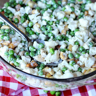 Cauliflower, Cashew and Pea Salad.