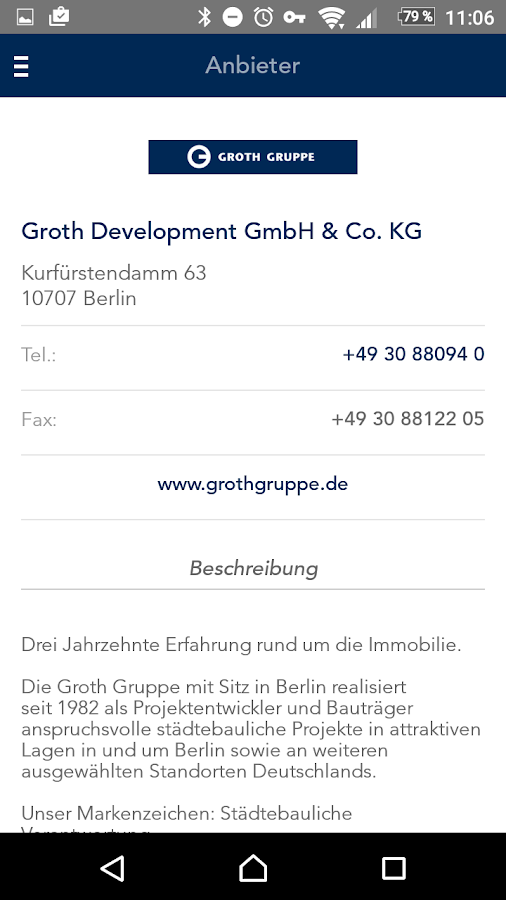 Groth Gruppe – Screenshot