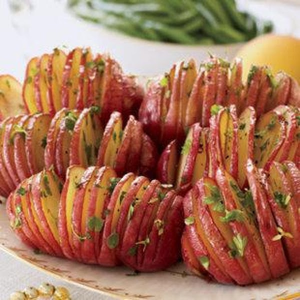Fanned Roasted Potatoes Recipe