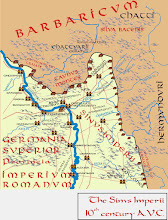 """Photo: This map which I have created myself covers the broader area in which the main parts of the six-volume """"Romanike"""" series are set, centering on the modern territory of Mainz-Wiesbaden-Frankfurt at the Middle Rhine and Lower Main: a territory that has been little explored by historical novelists so far.  The time, the early 10th century A.V.C. (ab Urbe Condita) or mid 2nd century A.D., corresponds to the period of outward peace between the vanquishing of the second Jewish Uprising and the outbreak of the Marcomannic Wars when it is just becoming visible for those who have eyes to see how the Romanike - the Roman Empire - has begun to rot in her core. Right through the map runs the upper Germanic Limes , the fortified border between the Roman Empire and the Barbaricum that has never been contested - so far.  Most names on the map are archaeologically attested except for Castellum Taunensium, Mount Dounobriga and Cirmacium that I have made up because it is not known what these places were called by the Romans."""