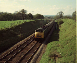 Photo: An up train from Cornbury Park bridge (1969)