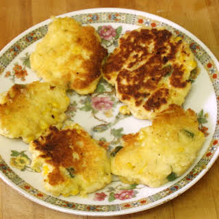 Double Corn Fritters.