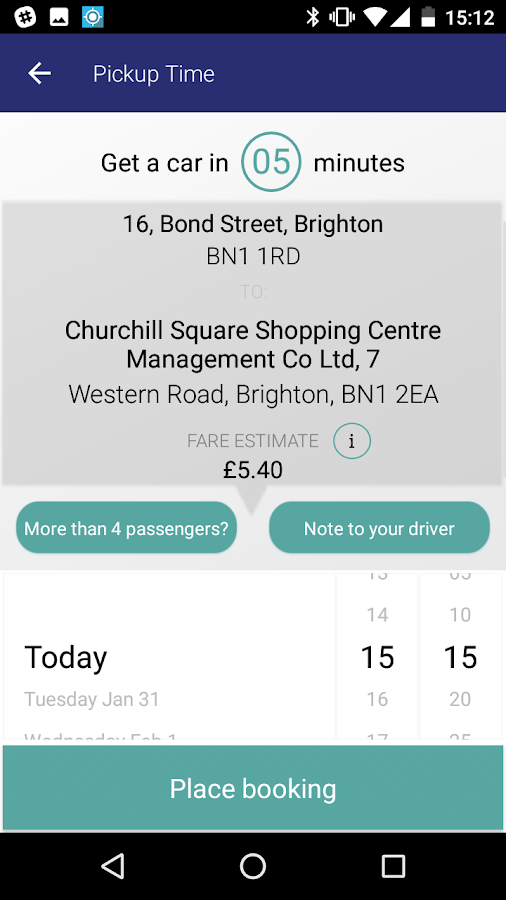 Brighton & Hove Radio Cabs- screenshot