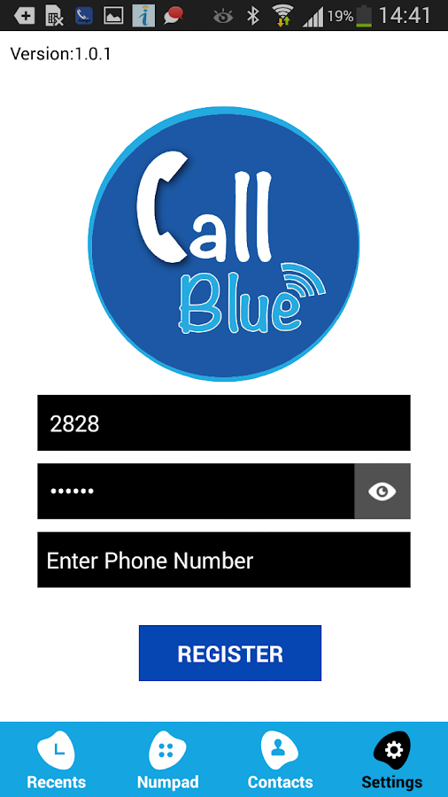 CallBlue- screenshot