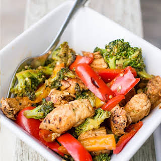 One Pot Paleo Mexican Chicken Stir Fry.