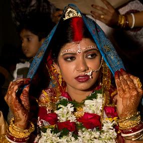 Bengali Marriage by Soumyadip Maity - Wedding Bride ( susmita, wedding, bengali, bride, marriage )