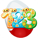 Numbers kids surprise egg game icon