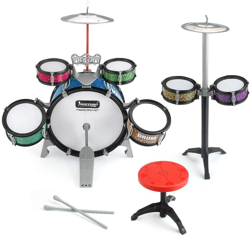 Eahumm 13 Pieces Kids Jazz Drum Set