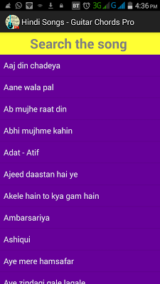 Hindi Songs Guitar Chords PRO - screenshot
