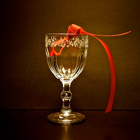 after all ..... by Anisja Rossi-Ungaro - Abstract Fine Art ( red, ribbon, glass, light, reflex )