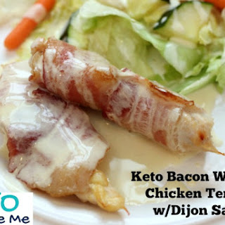 Keto Bacon Wrapped Chicken Tenders