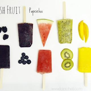 Fresh Fruit Popsicle
