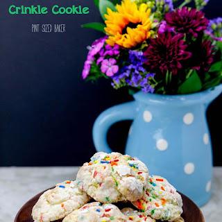 Mascarpone Crinkle Cookies.
