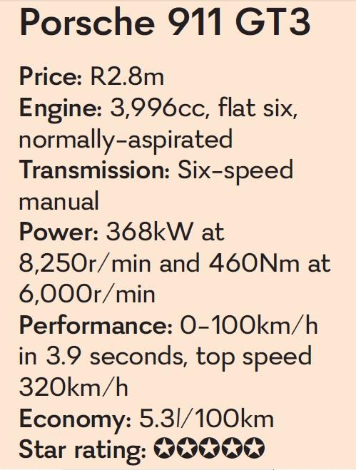 The Porsche 911 GT3 ticks all the right boxes