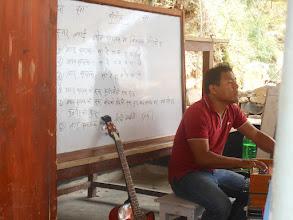 Photo: Mr. Tamang giving classes at Shree Chilaune Secondary School