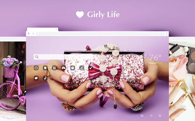 Girly Life HD Wallpaper Theme