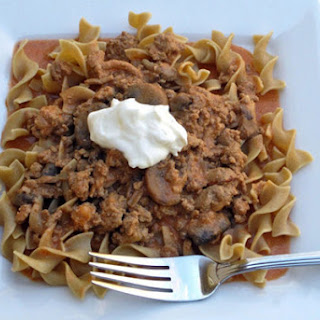 Slow Cooker Turkey Stroganoff