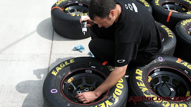 Photo: Timing is everything and lug nuts should be glued down in place at the right time to ensure both adhesion and the proper taffy like release when these wheel get put onto the studs...