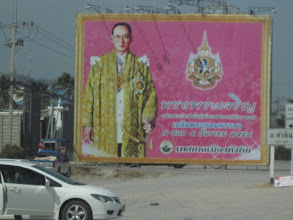 Photo: The King of Thailand is everywhere. Literally. Thais love the King and honor him in all sorts of ways.