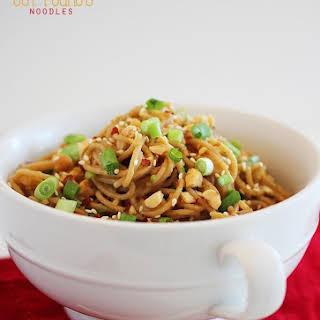 Simple Asian Soy-Peanut Noodles.
