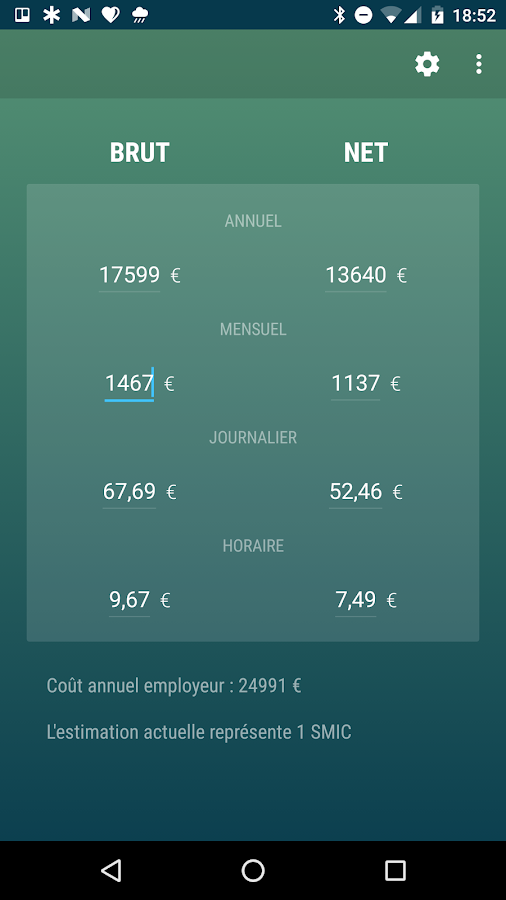 Salaire Brut ou Net- screenshot
