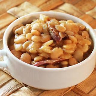 Crockpot Baby Lima Beans With Ham.