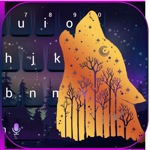 Forest Wolf Keyboard Theme (app)