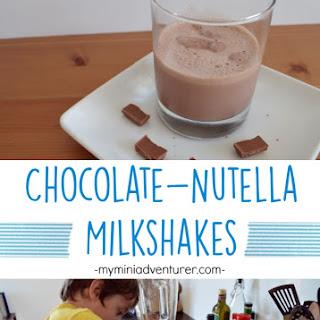 Kid Sized Chocolate Nutella Milkshakes