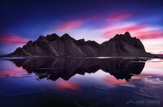 """Photo: """"Reverence""""  The gorgeous Vestrahorn mountains in Iceland, during sunrise, after a 36 hour non stop shooting and driving session, during the 2015 September photo-trip. I crashed and slept all day inside the car in Hofn, after this marathon, but it was certainly worth it. Hope you do agree!  José Ramos© http://www.joseramos.com  Technical info: Sony a7R + Zeiss 16-35mm f4 Exposure: 30 seconds Aperture: f8 ISO: 100 3 stop soft ND Grad filter (Formatt Hitech) Manfrotto tripod Wireless remote shutter Terrascape filter bag  #iceland #icelandphotography #icelandphoto #vestrahorn #vesturhorn #sunrise #landscapephoto #landscapephotography #photomaniaglobal #photomaniaportugal #stunningmoment"""