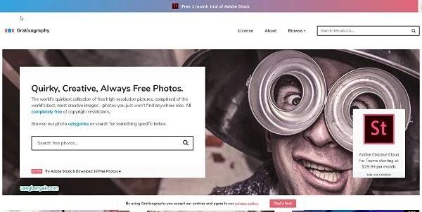 penyedia gambar gratis gratisography untuk keperluan blogging