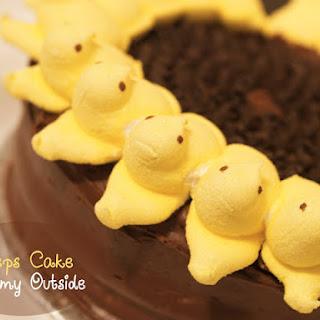 Peeps Sunflower Cake {Recipe}.