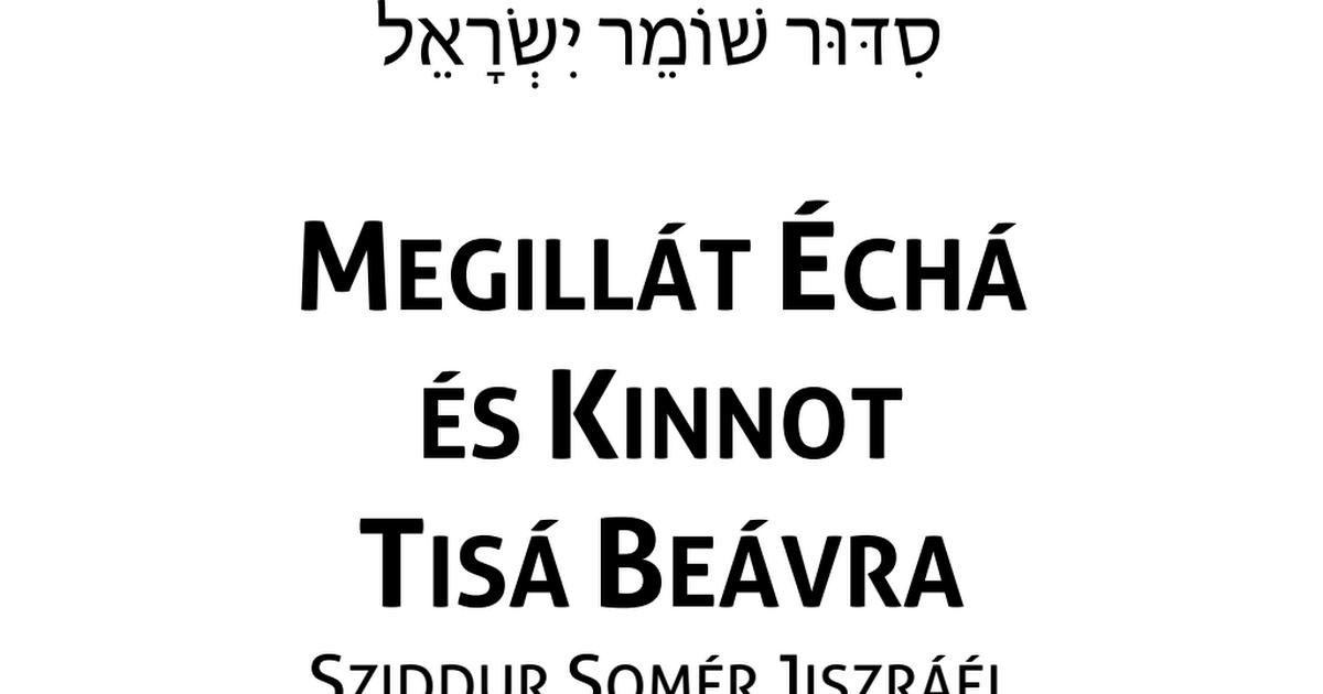 Megillát Échá és Kinnot Tisá Beávra (HUN).pdf