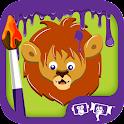 Kids Paint Wild Animals icon