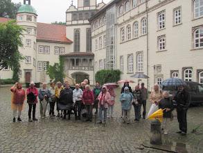 Photo: Im Schlosshof Gifhorn zum Europäischen Wandertag