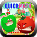 Quick Math-Fruits Bubble Crush icon