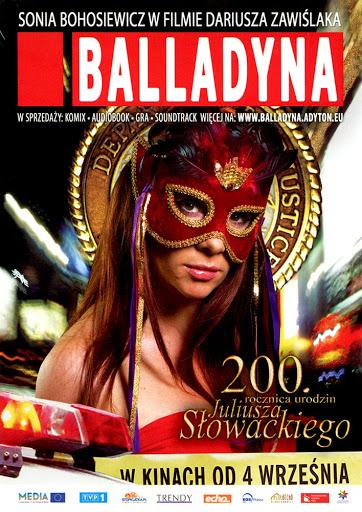 Przód ulotki filmu 'Balladyna'