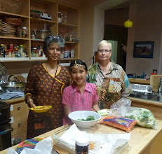 Photo: in the kitchen with pakoras.jpg