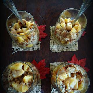 Apple Bourbon Spice Mini Trifles with Caramel.