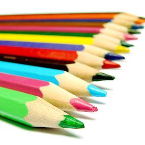 by Nafees Bazmi - Artistic Objects Other Objects ( red, blue, green, colors, focus, dof, pencils )