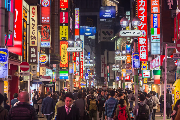 A street in downtown Tokyo, Japan, is packed with city dwellers. Picture: ISTOCK